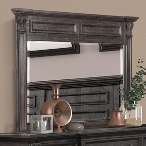 Traditional Mirror in Dark Brown