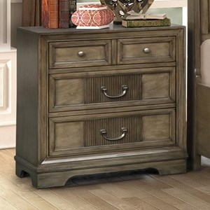 Traditional 3-Drawer Nightstand in Grey Finish