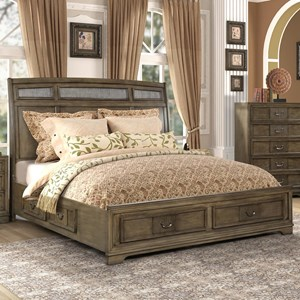 Traditional Queen Storage Bed with 6 Drawers