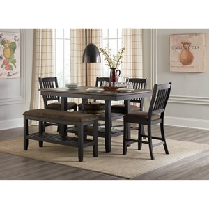 6-Piece Pub Table and Chair Set