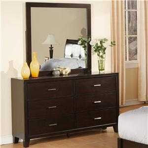 Lifestyle 9182 Dresser and Mirror