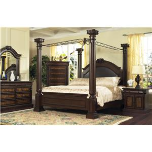 Lifestyle 9218D Queen Canopy Bed