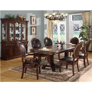 Lifestyle 9218D 7 Piece Table & Chair Set