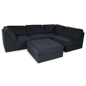 Button-Tufted Sectional Sofa