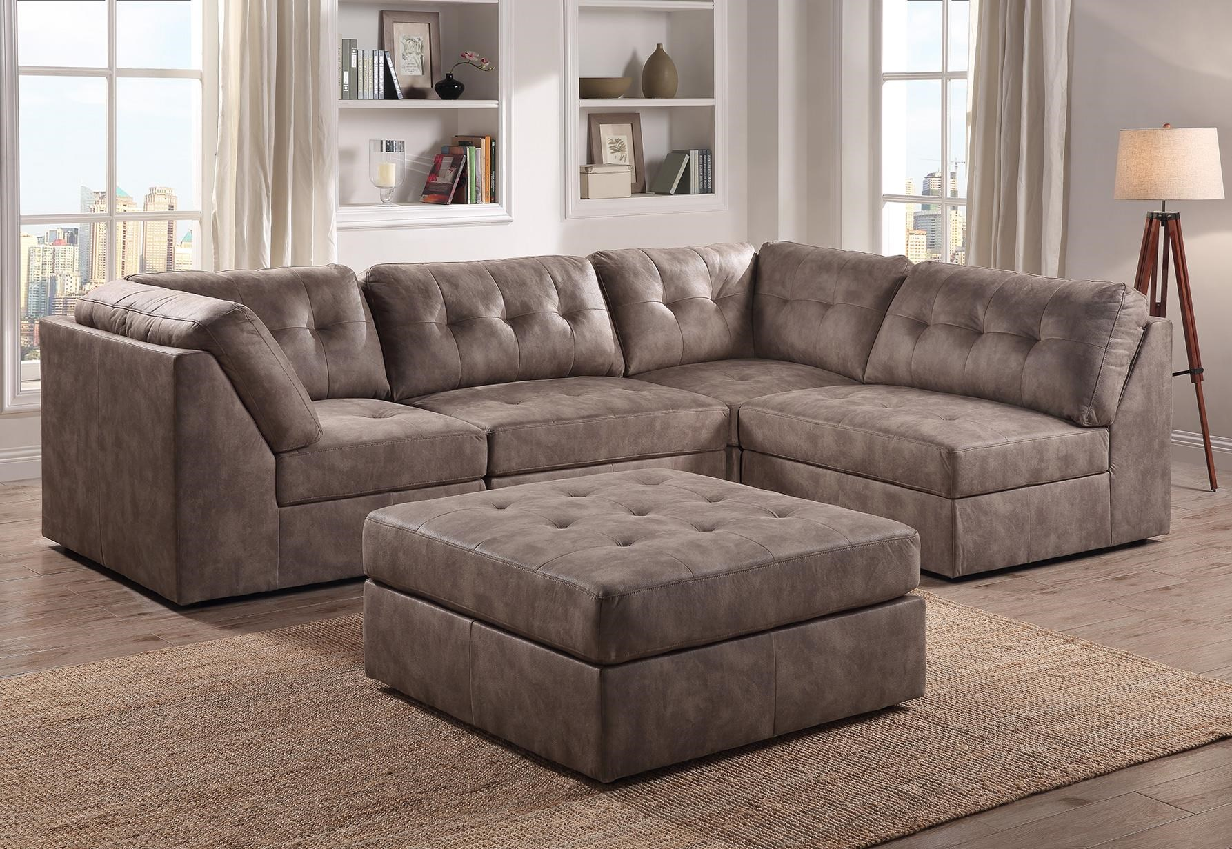 9377 Pecan 4 PC SECTIONAL by Lifestyle at Furniture Fair - North Carolina