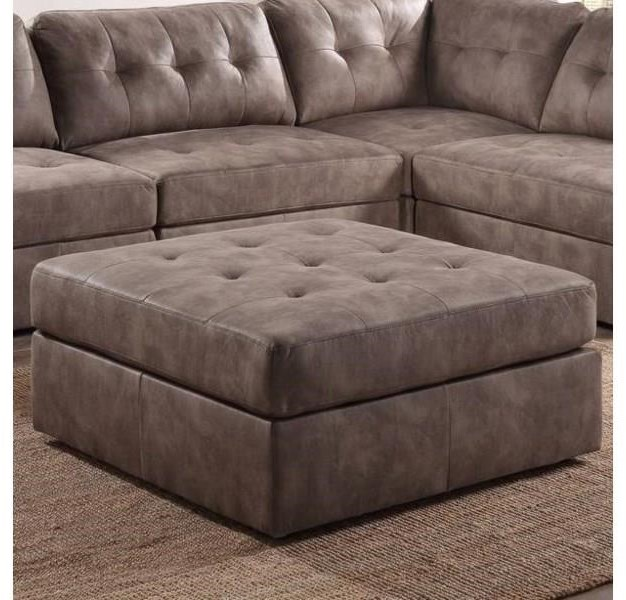 9377 Pecan Cocktail Ottoman by Lifestyle at Furniture Fair - North Carolina