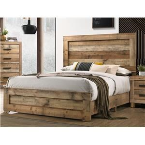 Natural Finish Queen Bed
