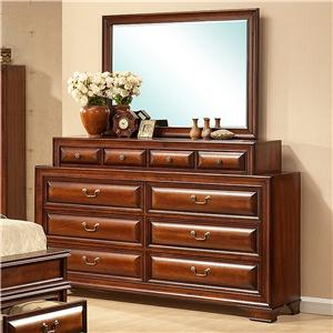 Lifestyle B1172 Dresser and Mirror Set