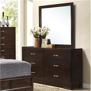 Lifestyle Bookie Dresser and Mirror