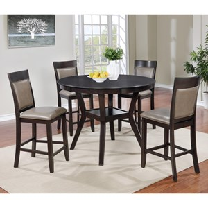 Transitional Two-Tone Pub Table and Four Chairs