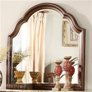 Traditional Vertical Mirror with Scalloped Edge