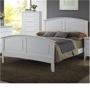 Queen Panel Wood Bed