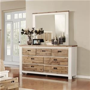 Lifestyle C347 Dresser and Mirror Set