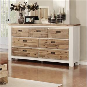 Lifestyle C347 Dresser W/ Full Extension Drawer Glides, 7 D