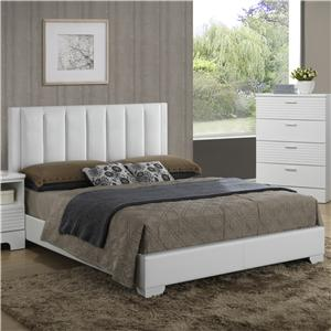 Contemporary Upholstered Queen Panel Bed