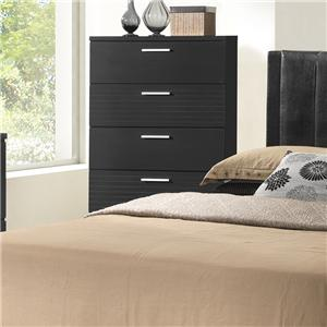 Contemporary 4 Drawer Chest