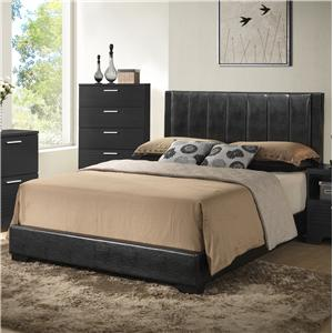 Contemporary Upholstered Twin Panel Bed