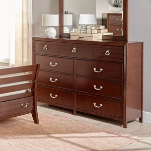 Transitional Dresser with Nine Drawers