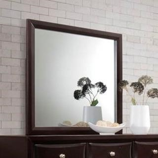 C6498A Mirror with Wood Frame by Lifestyle at VanDrie Home Furnishings