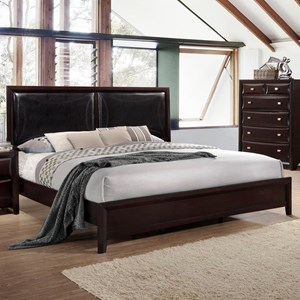 Queen Platform Bed with Upholstered Headboard