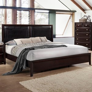 Twin Platform Bed with Upholstered Headboard