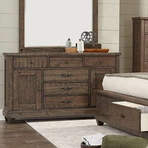 Rustic Dresser with Drawers and Doors