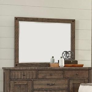 Rustic Rectangular Dresser Mirror