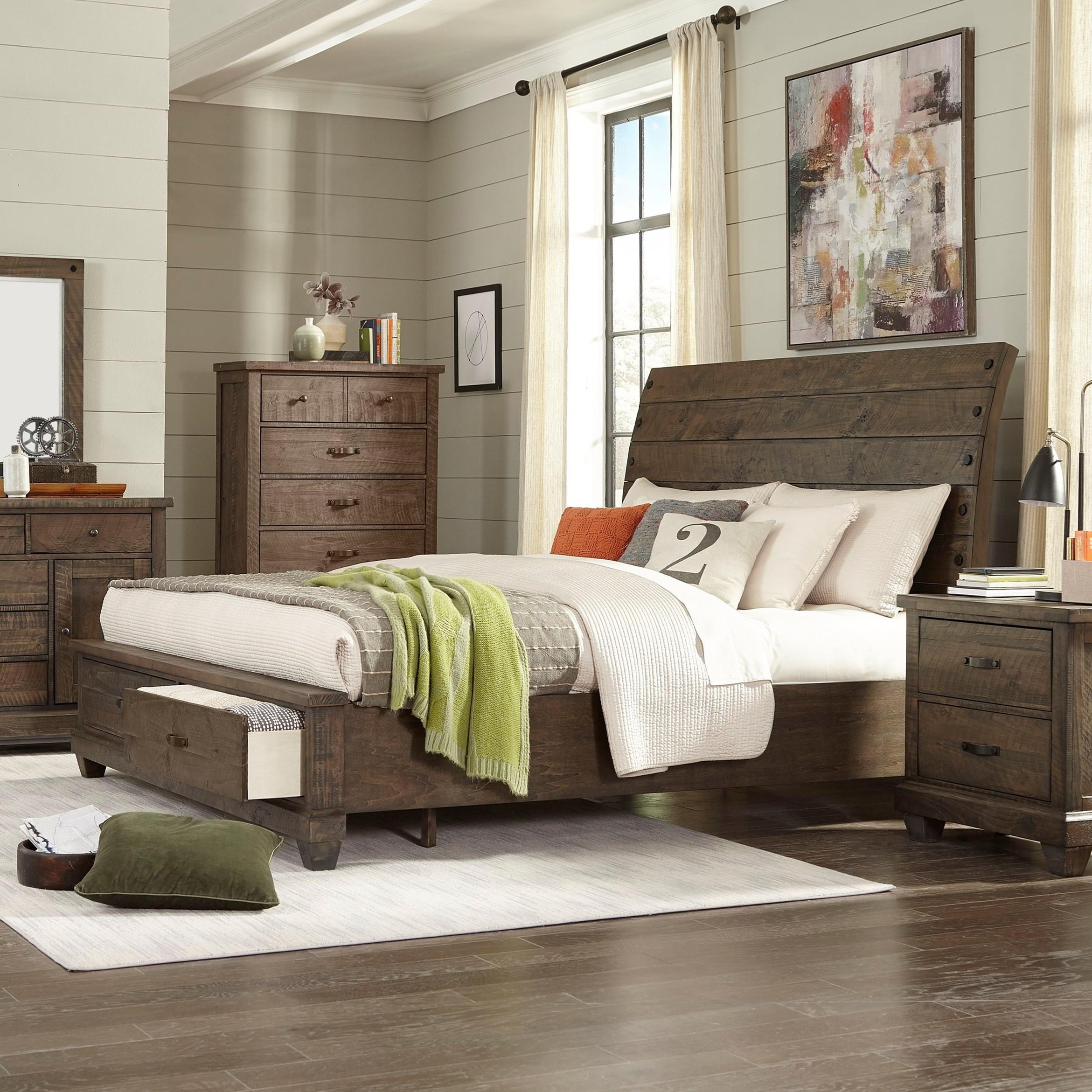 C7131A King Sleigh Bed by Lifestyle at Beck's Furniture