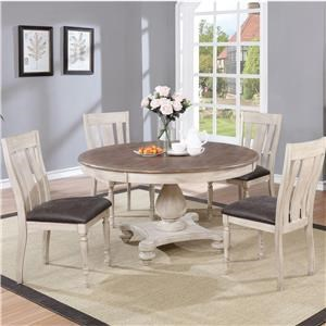 5PC Farmhouse Dining Table & Chair Set
