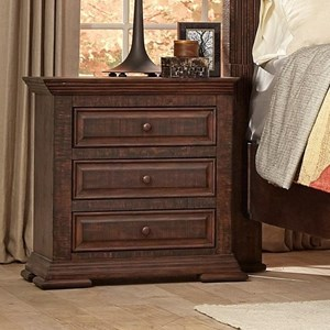 Traditional Nightstand with Crown Molding