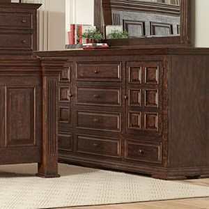 Traditional Dresser with Doors and Drawers