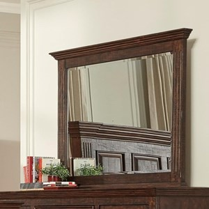 Dresser Mirror with Crown Molding