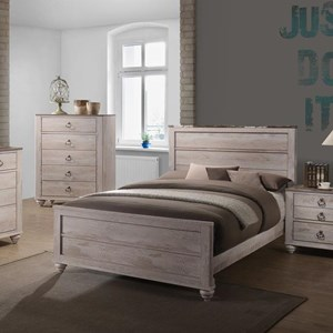 Transitional Queen Panel Bed