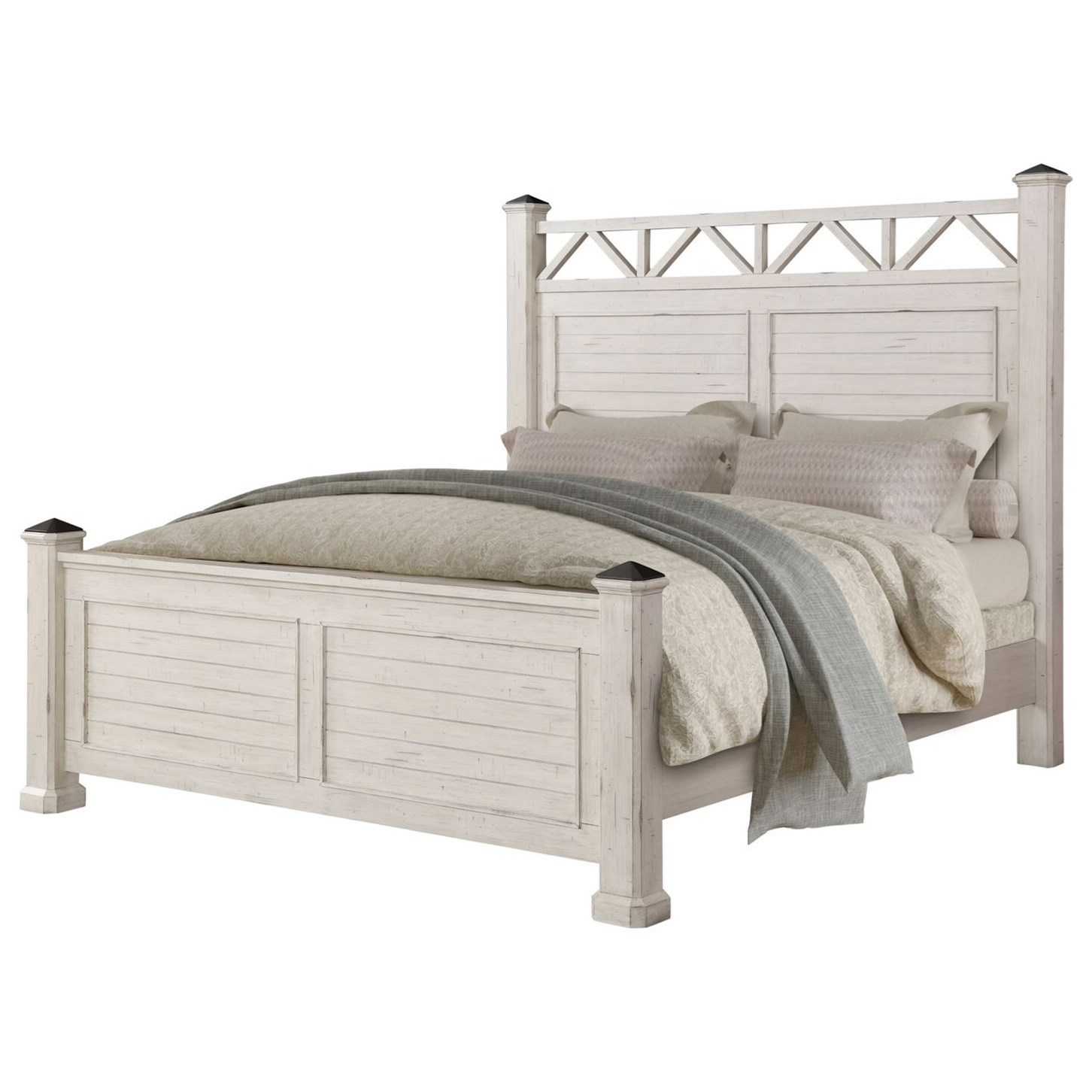 Claiborne King Poster Bed by Lifestyle at Virginia Furniture Market