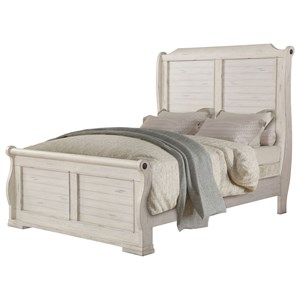 Cottage Style Queen Sleigh Bed