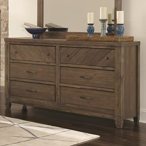 Contemporary Dresser with 6-Drawers