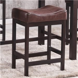 "24"" Backless Faux Leather Barstool"
