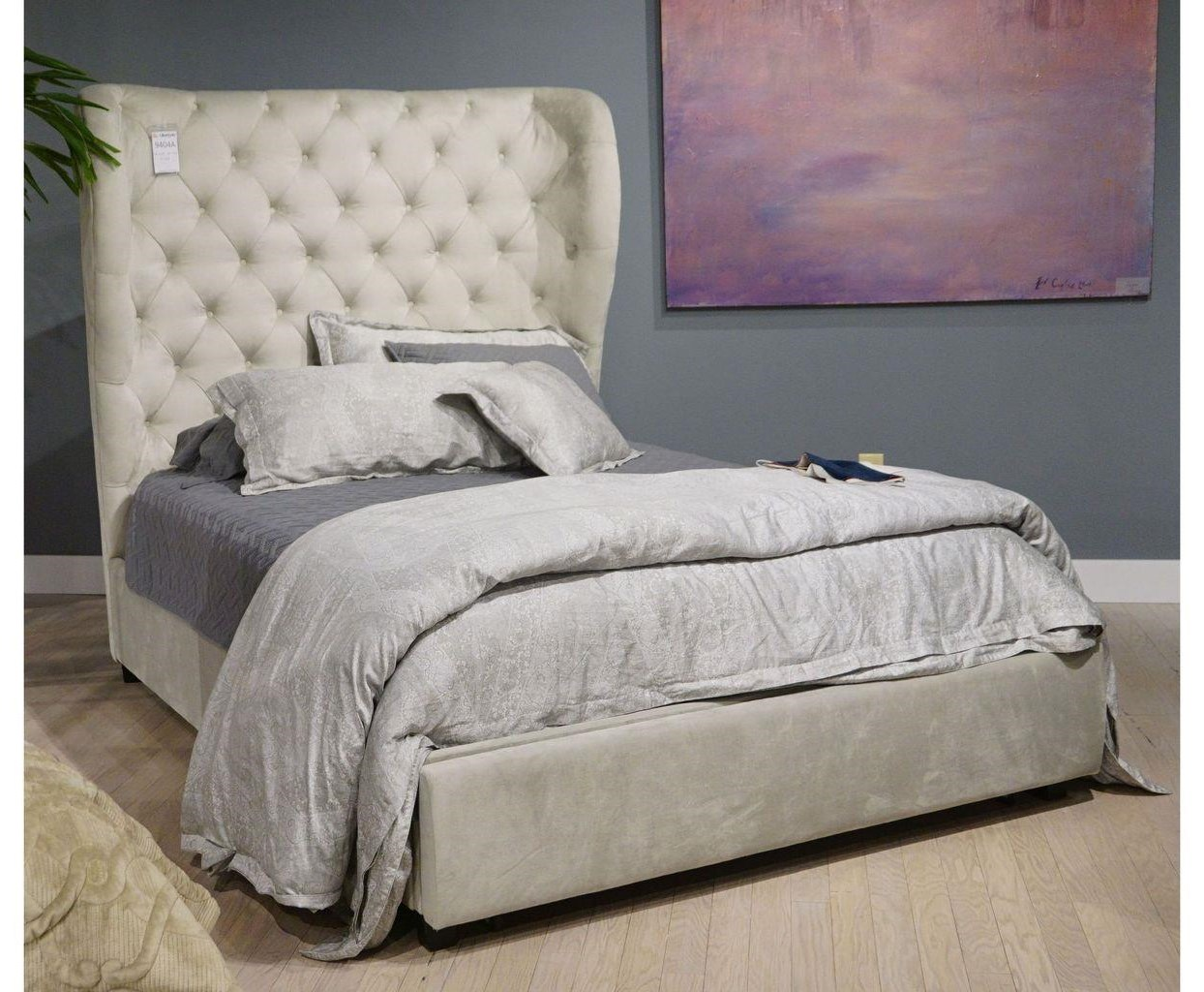 C9404 King Size upholstered bed by Lifestyle at Furniture Fair - North Carolina
