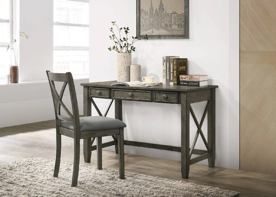 C9500 2 Drawer Desk & Chair by Lifestyle at Sam Levitz Furniture