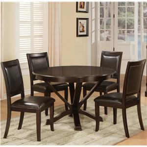 Lifestyle D613 Dining Table and Dining Side Chair Set