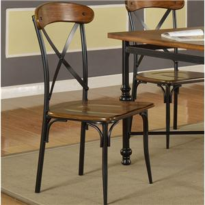 Pub Chair with X Backs (Set of 2)