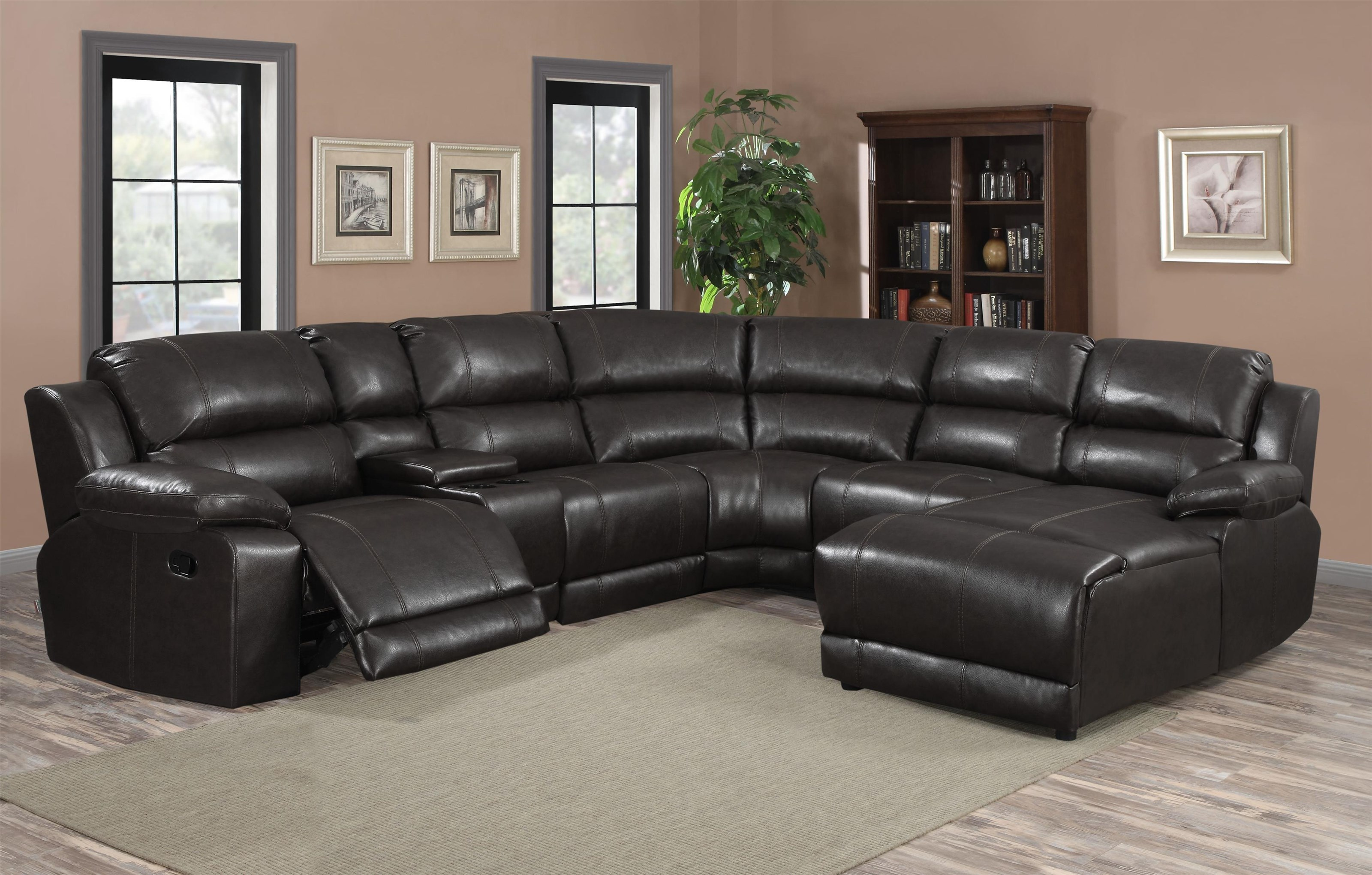 FW212 6 PC Charcoal Sectional by Lifestyle at Furniture Fair - North Carolina