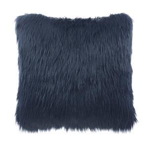 Indigo Faux Fur Pillow