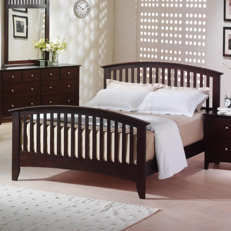 Metro King Slat Bed by Alex Express Life at Northeast Factory Direct