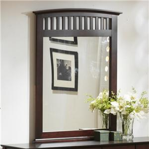 Vertical Mirror with Slats