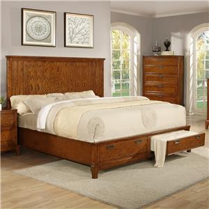 Lifestyle Oakridge  King Storage Bed