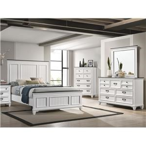 Dresser, Mirror and Complete 3 Pc Queen Bed