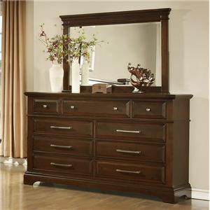 Lifestyle Timber Dresser and Mirror