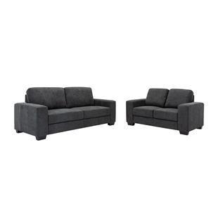 Dark Grey Sofa and Loveseat Set