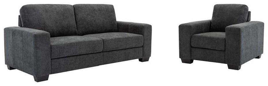 Dark Grey Sofa and Chair Set